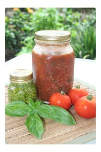 Basil Pesto and Tomato & Basil Pasta Sauce