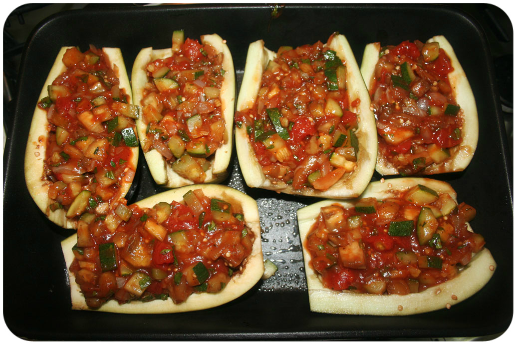 Eggplant with stuffing
