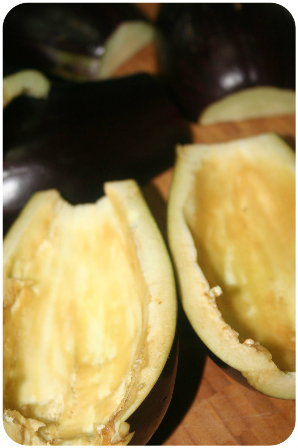 Hollowed eggplant
