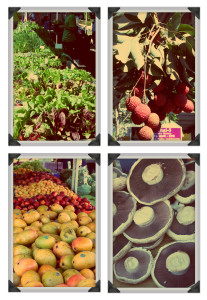 Fruit and vege's at Mitchelton Farmers Markets Brisbane