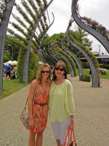 Eat Pray Workout Australia top health blogger Amy Darcy and mother in law at Southbank Markets Brisbane