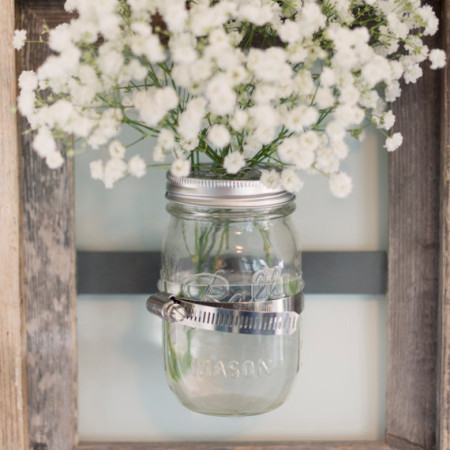 mason jar framed vase home decor