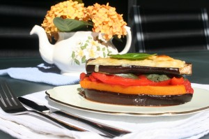 Vegetable eggplant stack