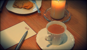letter writing and tea