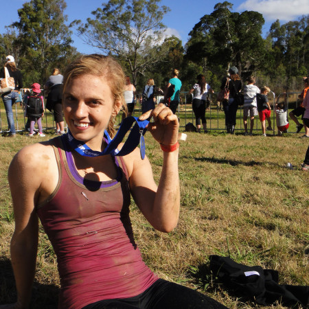 Eat Pray Workout Australia top health blogger Amy Darcy at Super spartan race Brisbane