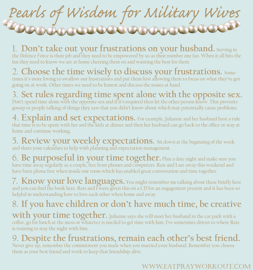 Pearls of wisdom for military wives copy