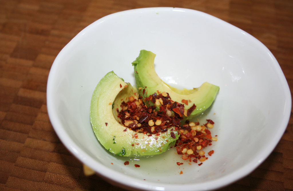 Avocado, chilli and lime