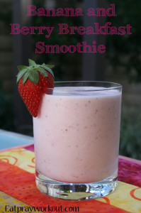 Banana and Berry Breakfast Smoothie
