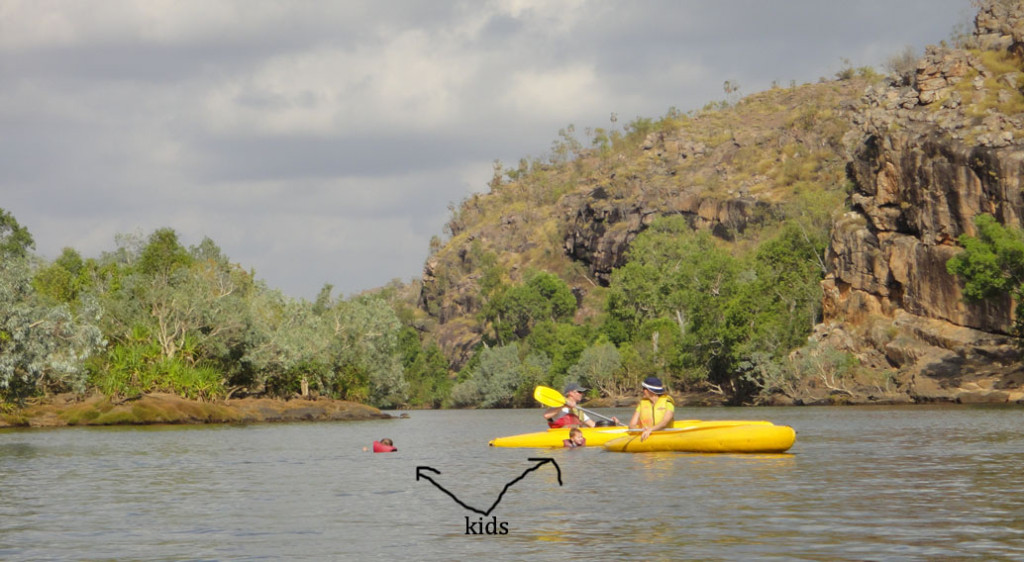 kids Canoeing Katherine River Eat Pray Workout