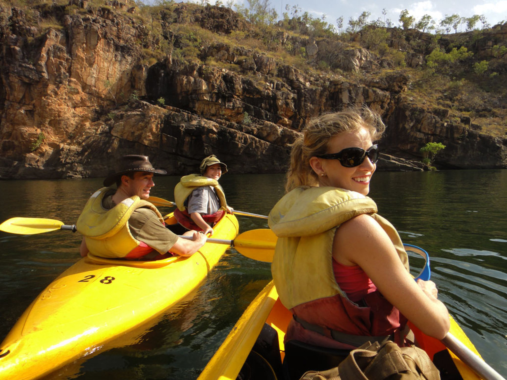 Amy Darcy Canoeing Katherine River Eat Pray Workout