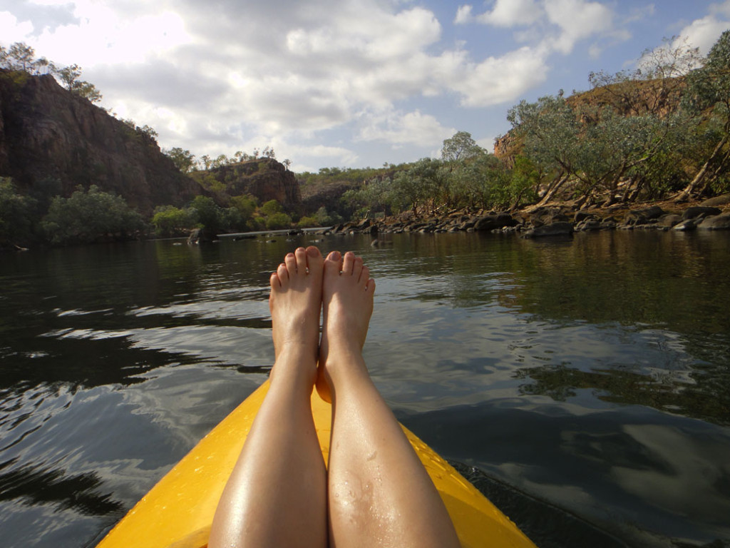 AmyDarcy Canoeing Katherine River Eat Pray Workout