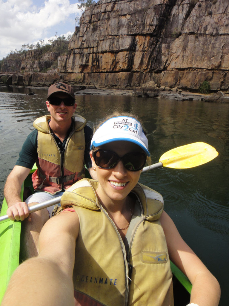 Amy and Reis Darcy Canoeing Katherine River Eat Pray Workout