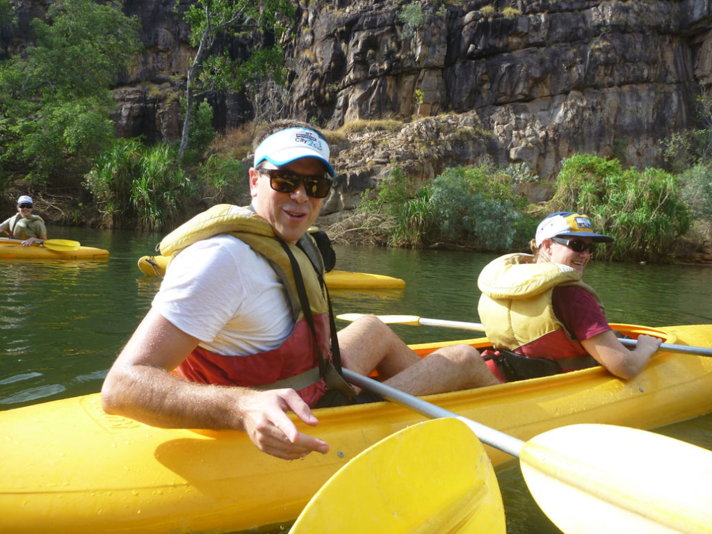 Canoes Katherine River Eat Pray Workout