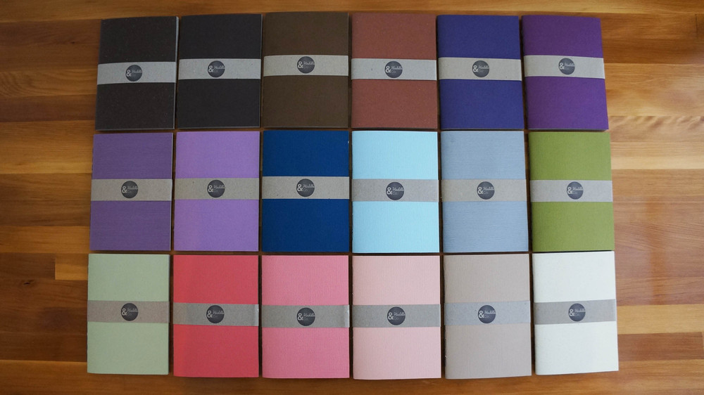 A6 notebooks from huddle and co
