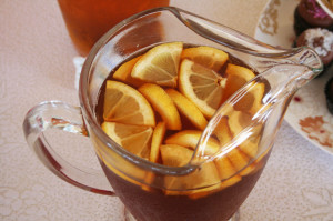 iced lemon tea at baby shower
