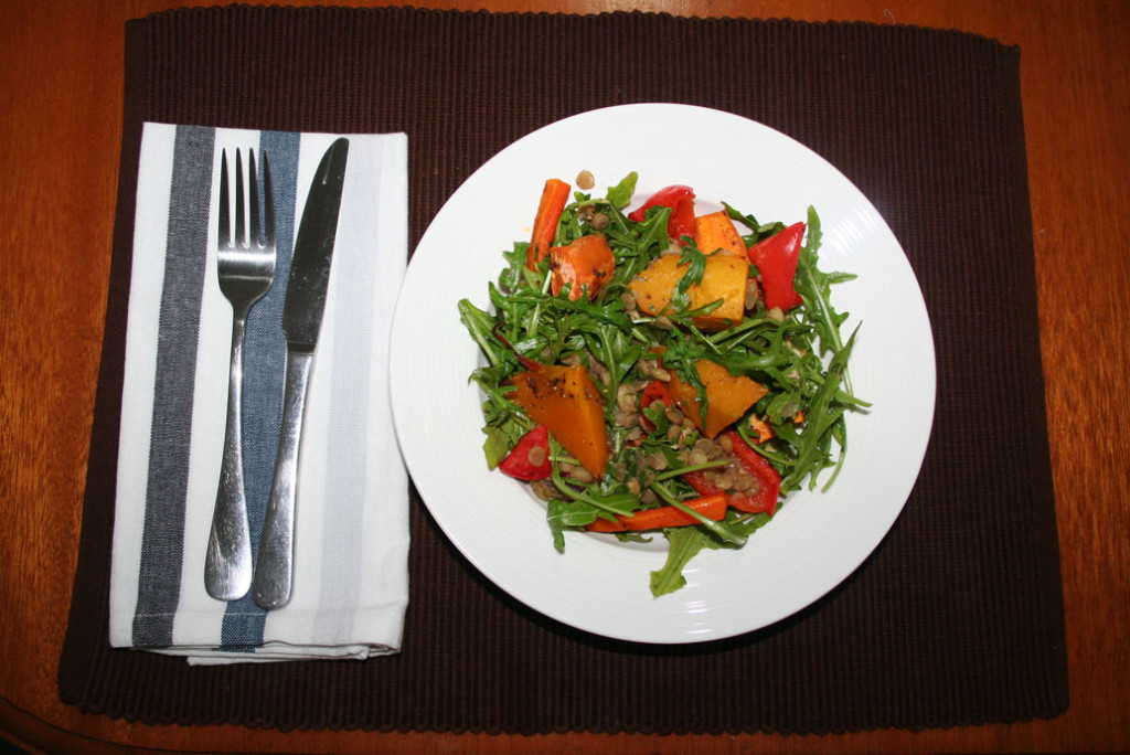 Roast vegetables with lentils Hello Fresh Recipes and review