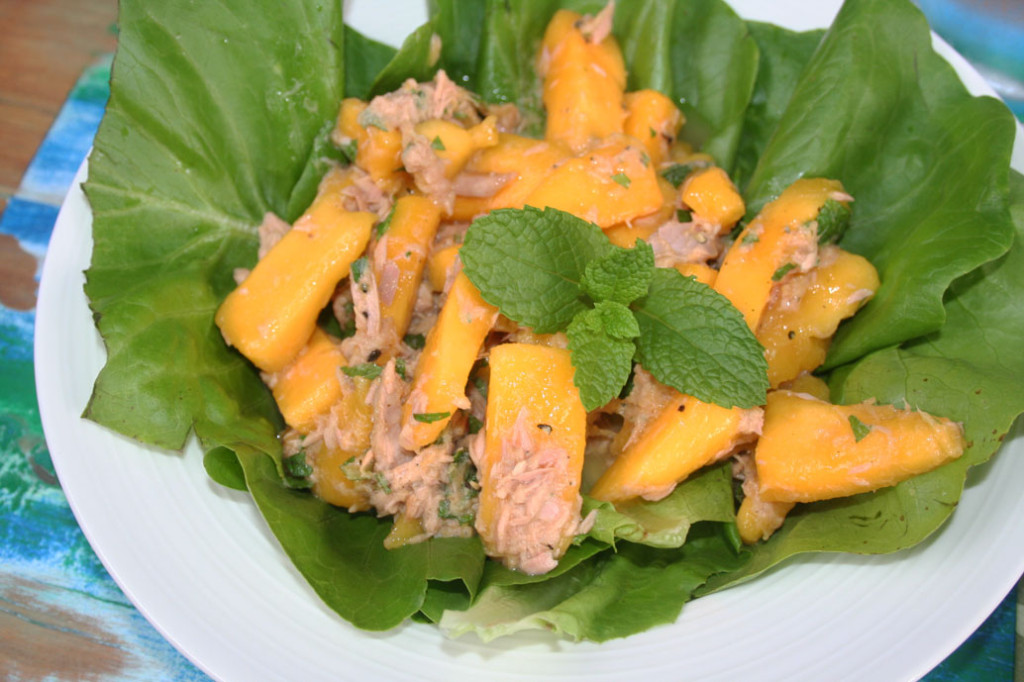 mango mint and tuna salad eat pray workout