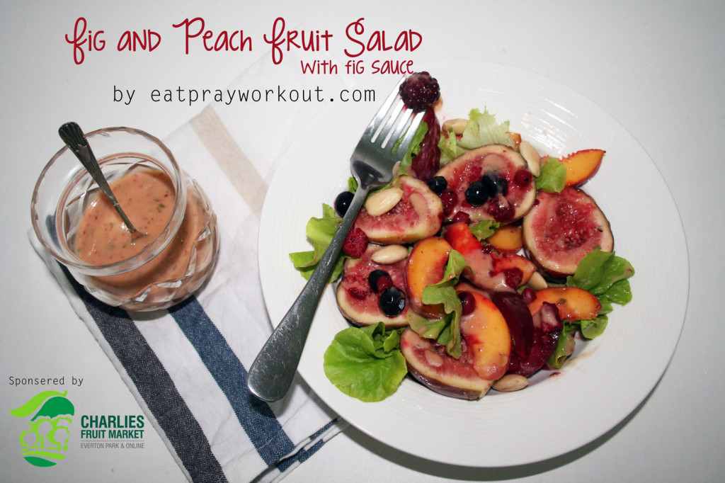 Fig and Peach Fruit Salad eat pray workout
