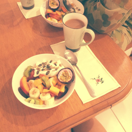 A breakfast at home