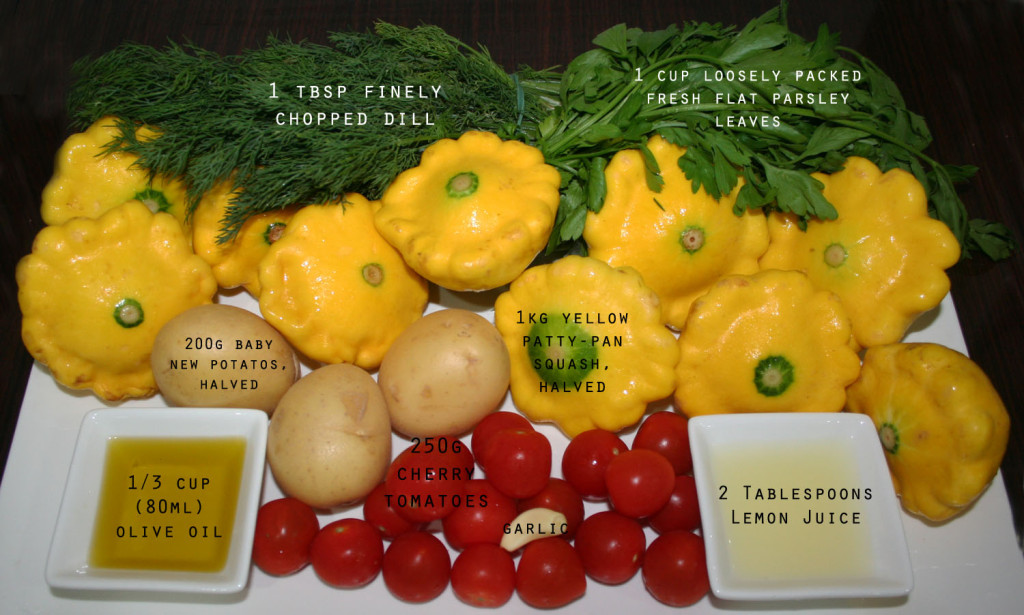 Summer Squash Salad - ingredients eat pray workout