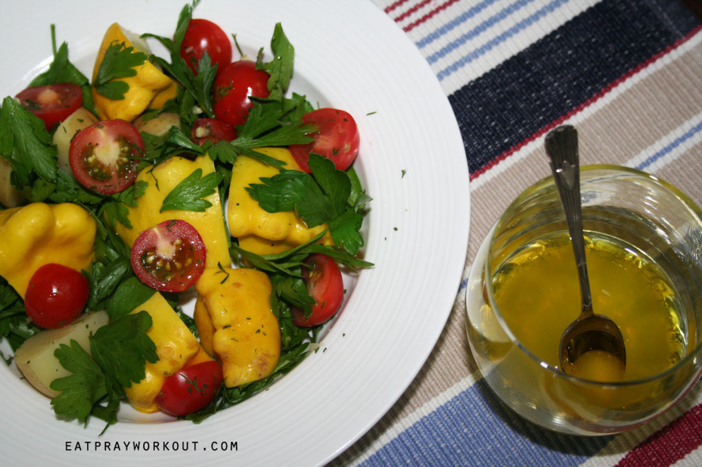 summer squash salad eat pray workout