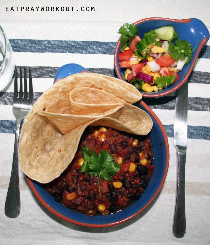 black bean corn and chilli stew healthy mexican eat pray workout