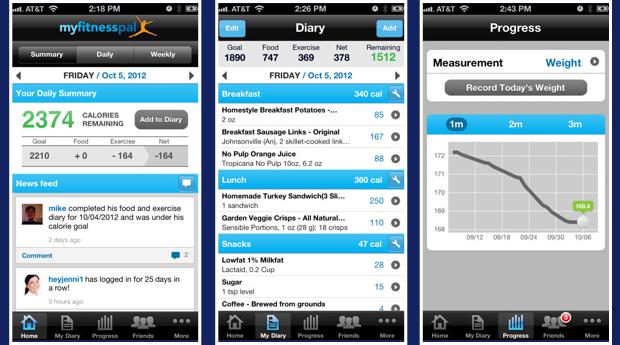 how to change weight on myfitnesspal app