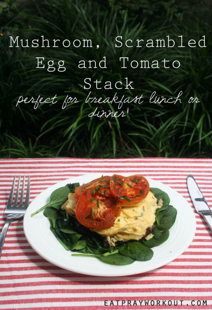 v2 Mushroom Scrambled Egg and Tomato Stack