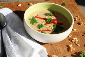 thai bean, coconut and lime soup