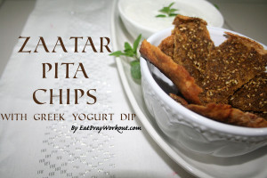 Zaatar Pita Chips & Dip, Healthy Falafel + COMPETITION!!