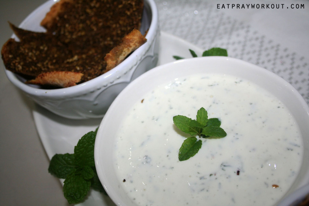 Zaatar Pita Chips with Greek Yogurt Dip 3 copy