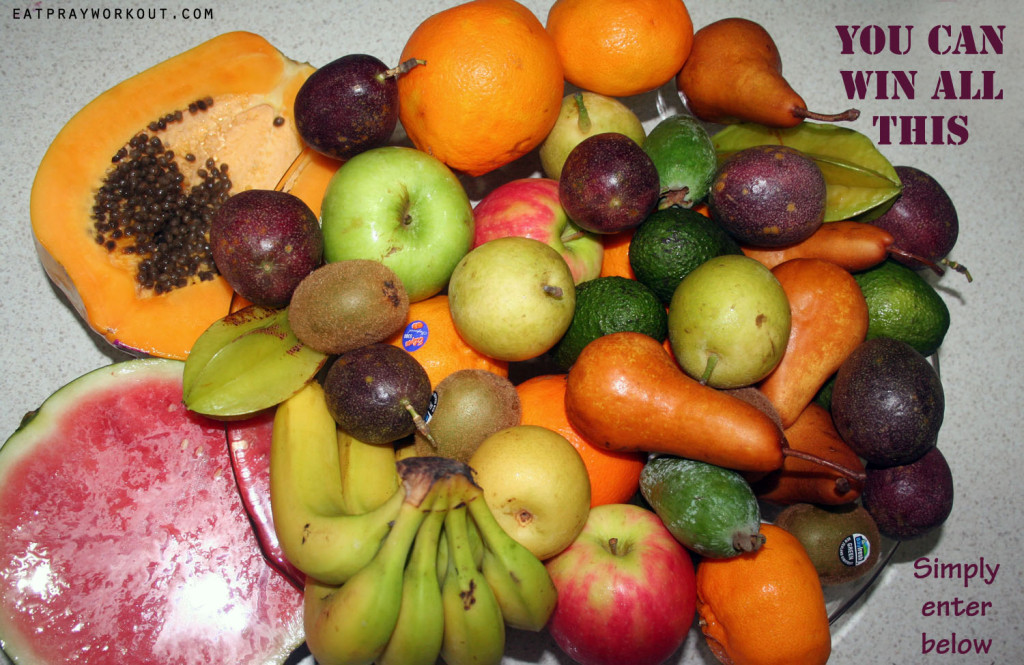 fruit to win eat pray workout tropical paw paw plate
