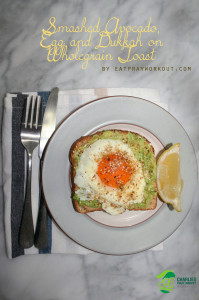Smashed Avocado, Egg and Dukkah on Wholegrain Toast