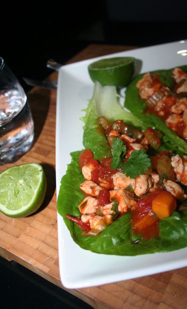 portuguese chicken lettuce wraps 1