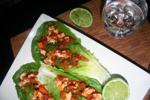 Portugese Chicken Lettuce Wraps