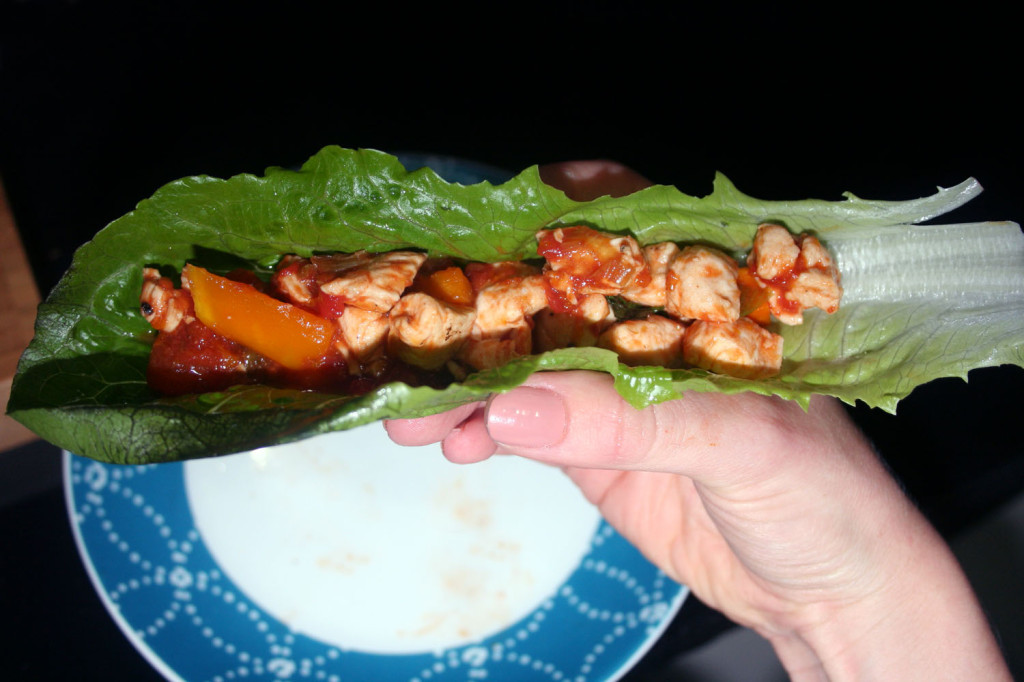 portuguese chicken lettuce wraps eat pray workout