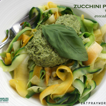 zucchini pasta with avocado basil pesto copy