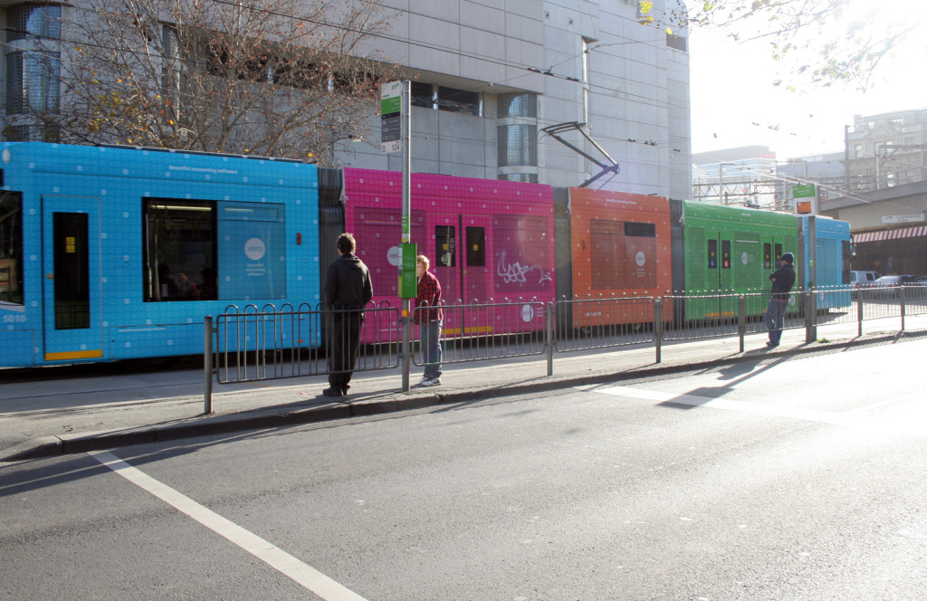 Melbourne coloured new trams eat pray workout