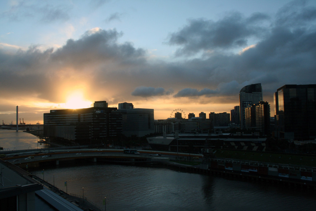 melbourne view from hilton south wharf executive lounge