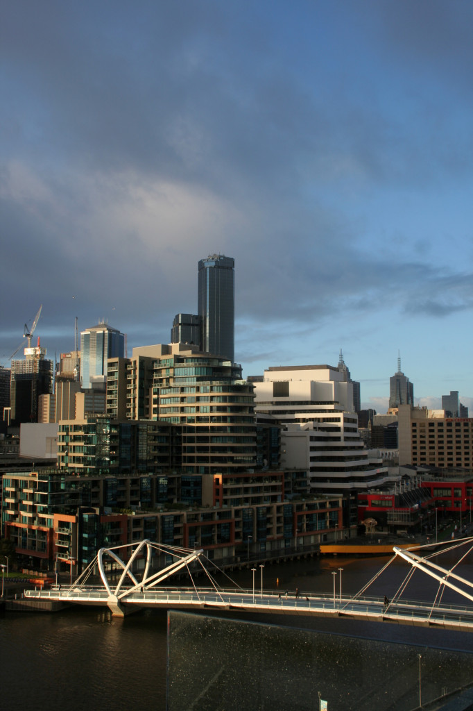 melbourne view from south wharf hilton executive lounge