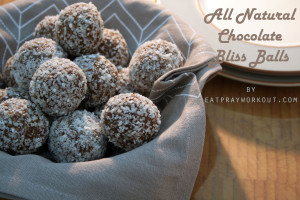 healthy all natural chocolate bliss balls