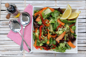 colourful gourmet garden salad