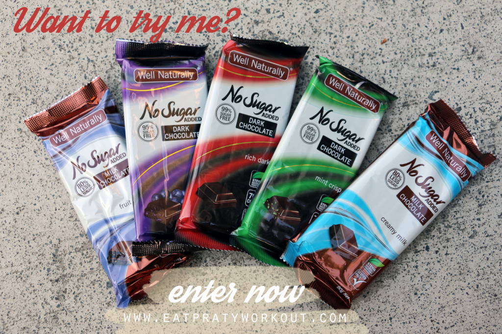 enter to win well naturally chocolate no sugar added