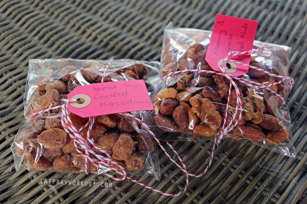 Spiced nuts eat pray workout christmas gift