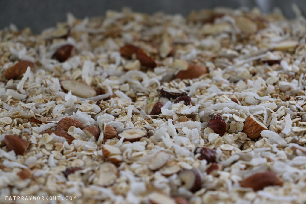 uncooked Healthy Granola recipe Eat Pray Workout Christmas