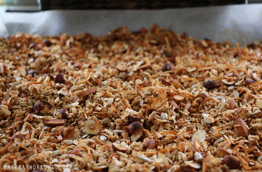 toasted Healthy Granola recipeEat Pray Workout Christmas