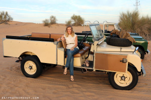 Amy Darcy Eat Pray Workout Australia top health blog on Sunset desert safari in Dubai