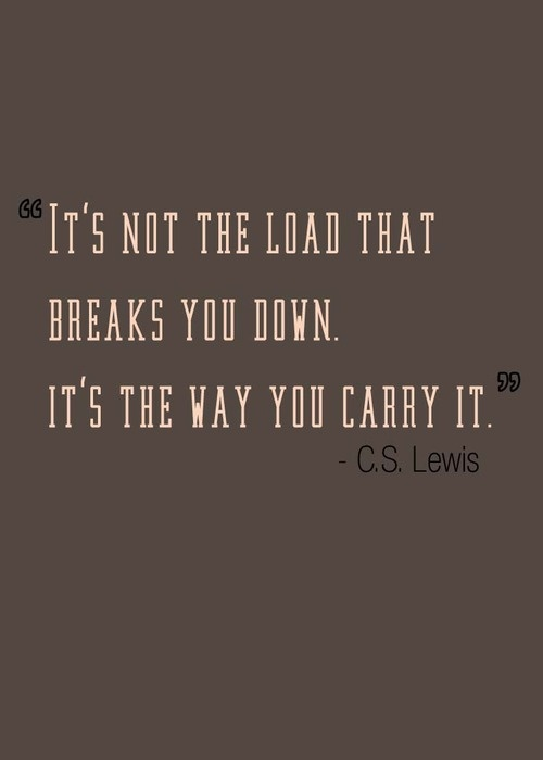 cs lewis the way you carry it