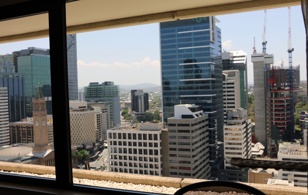 Hilton Brisbane Room view