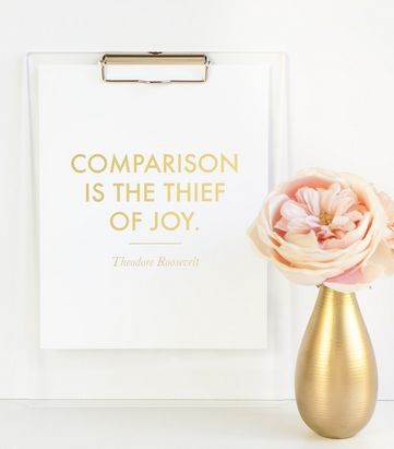 comparison is the theif of joy eat pray workout
